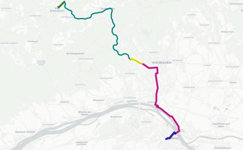 Routenführung der CityBahn