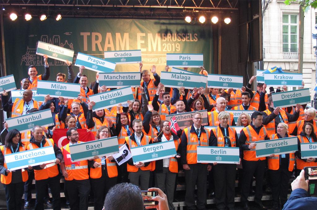 Die Teilnehmer der 8. European Tramdriver Championship
