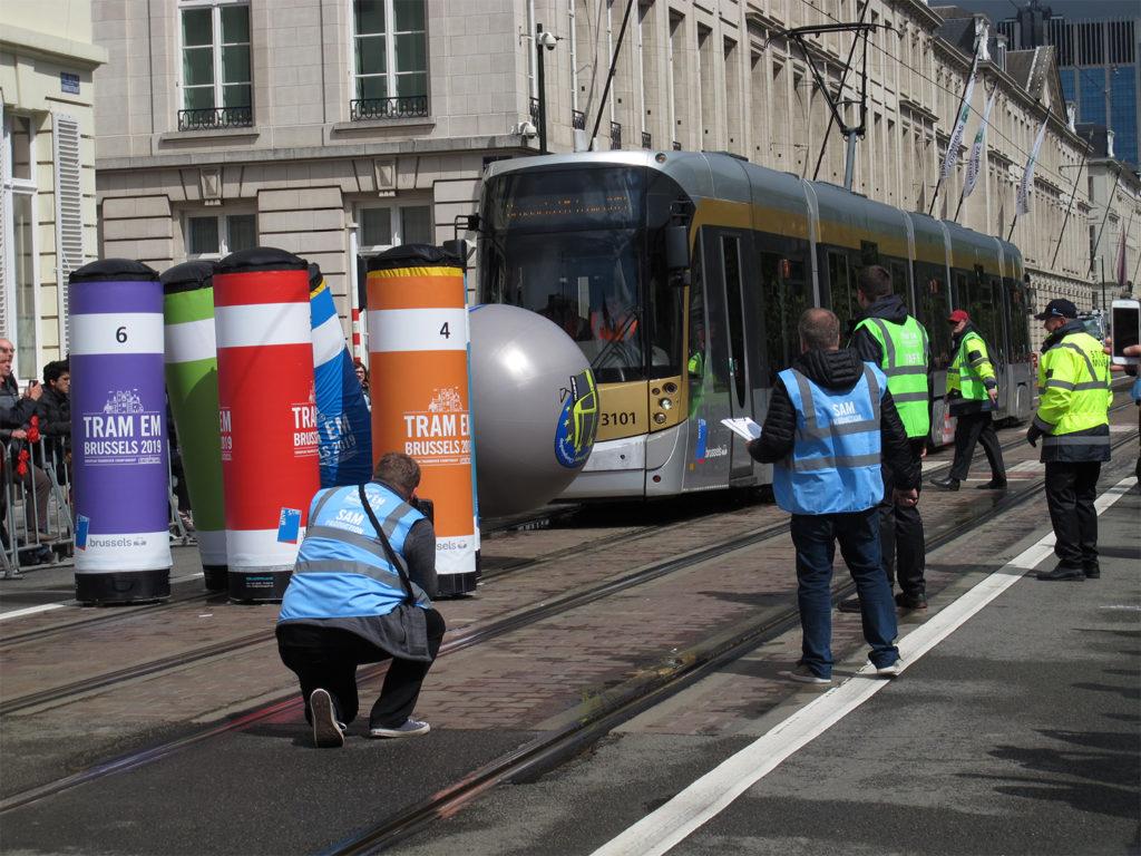 Tram Bowling bei der 8. European Tram Driver Championship