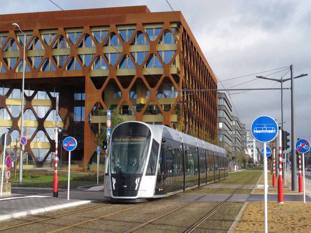 Straßenbahn am Kirchberg