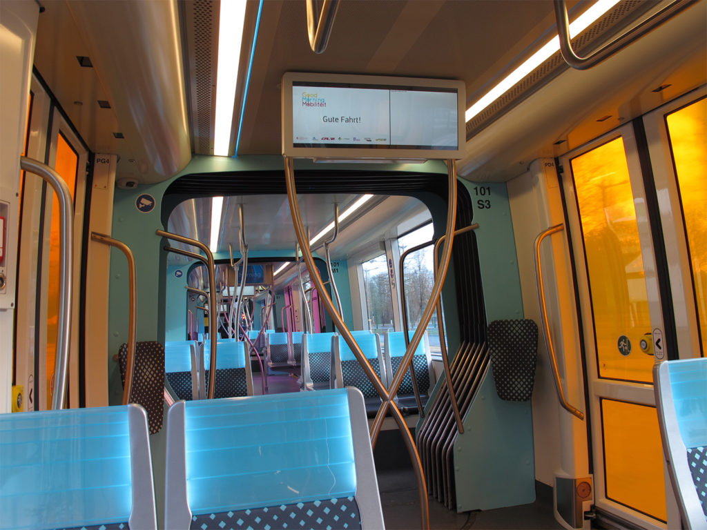 Innenraum Straßenbahn