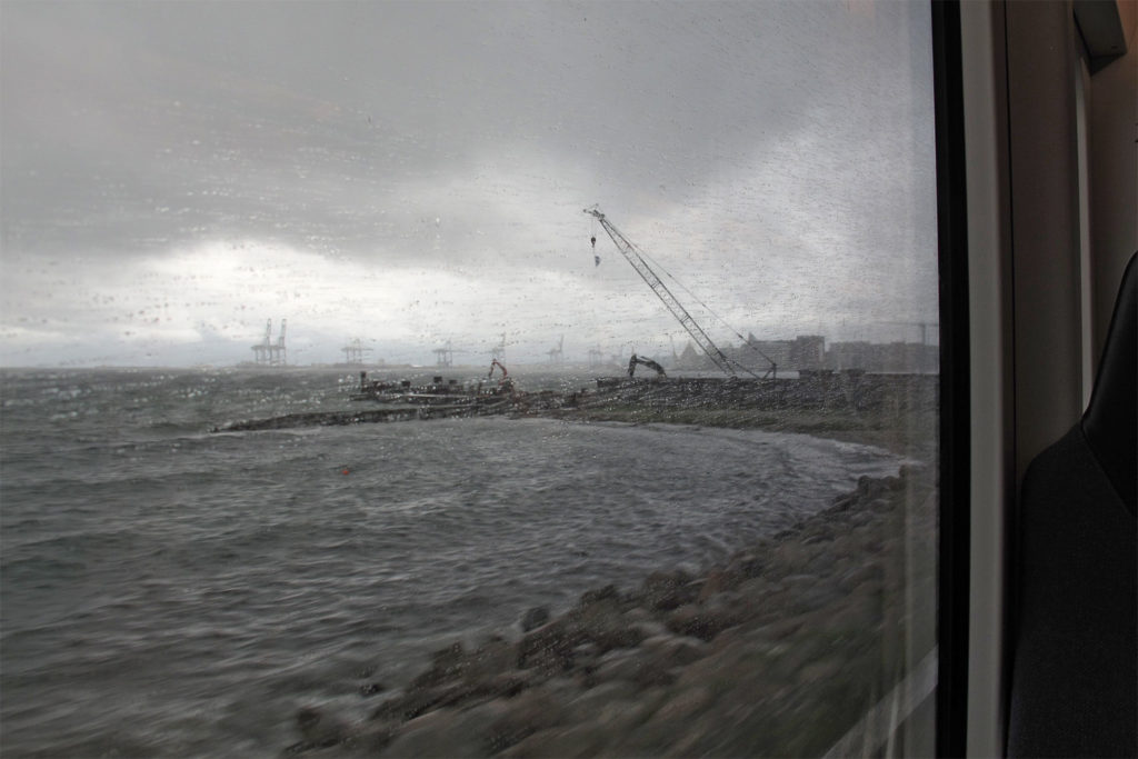 Blick aus Stadtbahn auf den Kattegat
