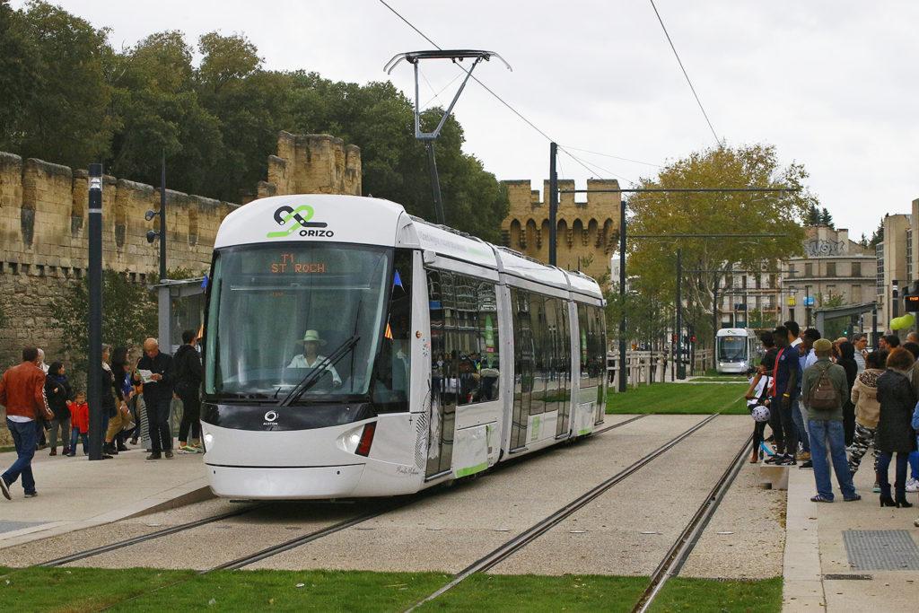 Straßenbahn Avignon Haltestelle