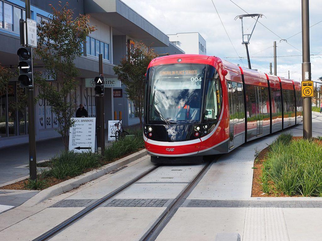 Straßenbahn im australischen Canberra