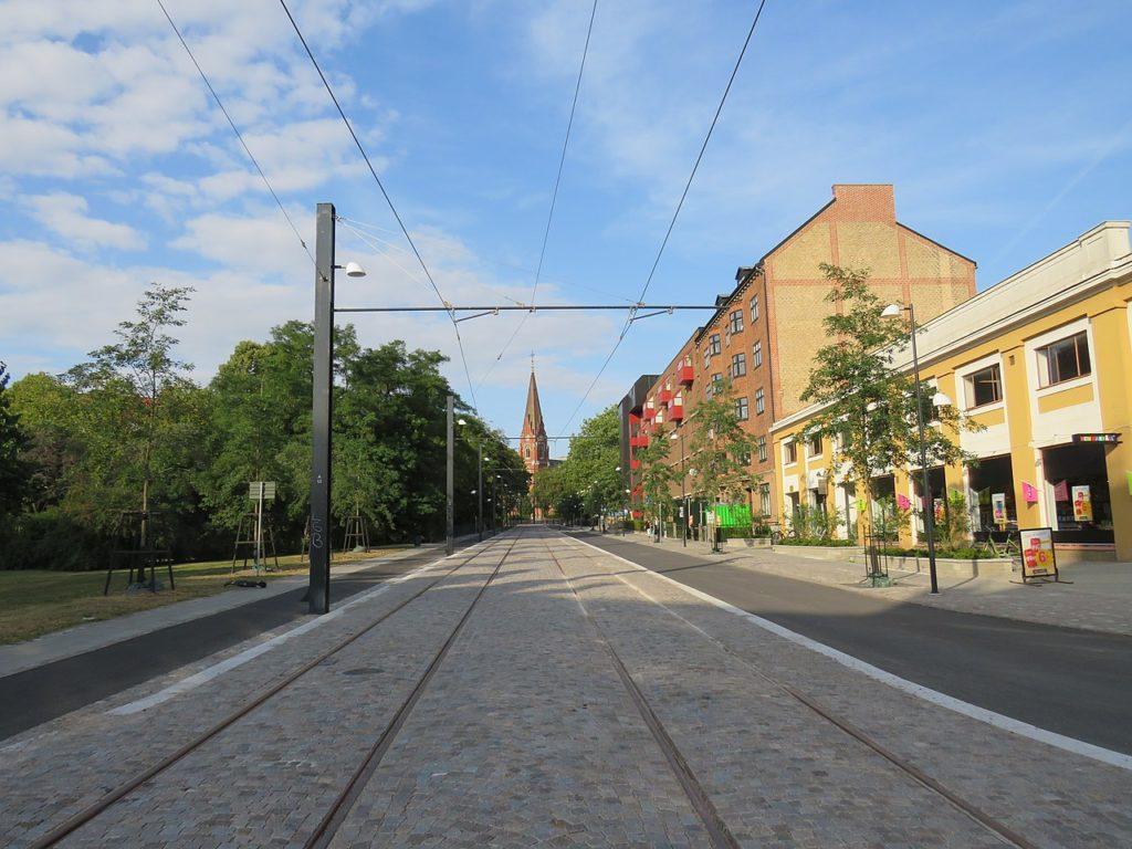 Straßenbahn Lund im Bau