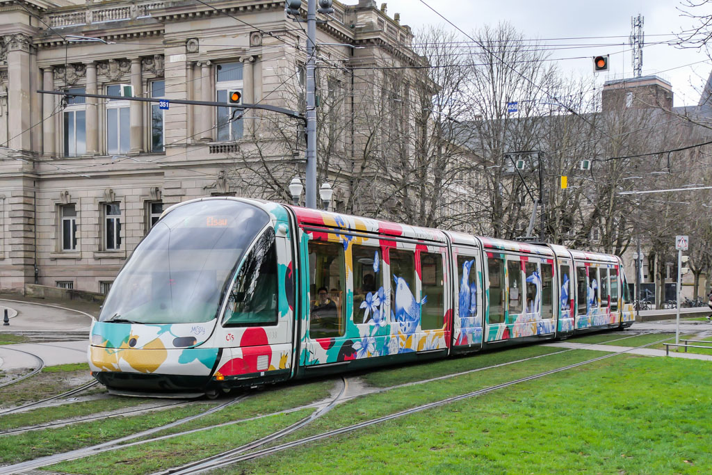 Straßenbahn Strasbourg mit Motiven Missy