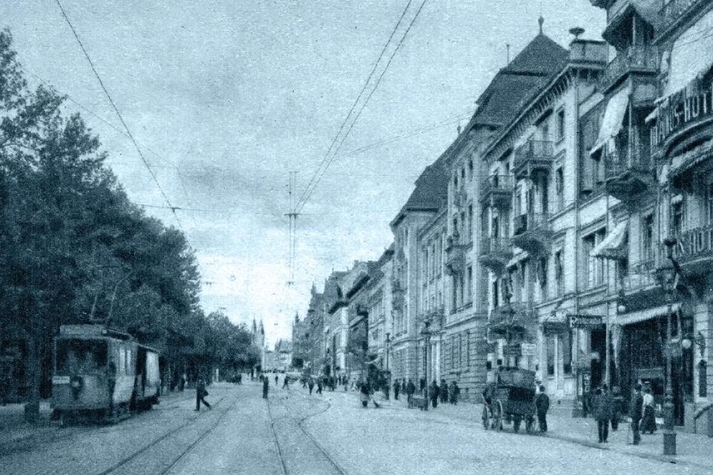 Rheinstraße um 1905