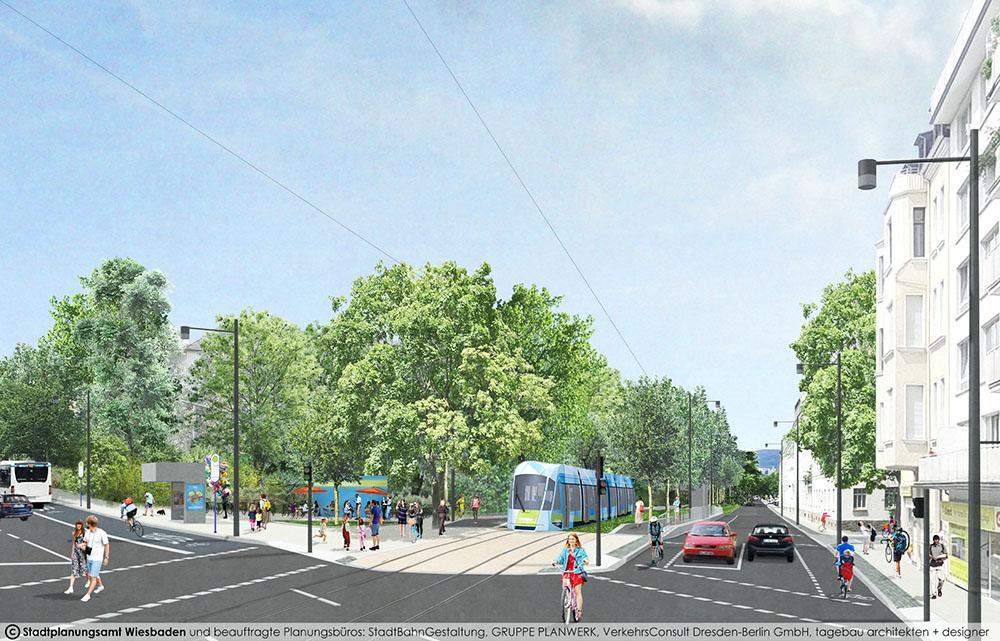 Visualisierung CityBahn Wiesbaden Klarenthaler Straße