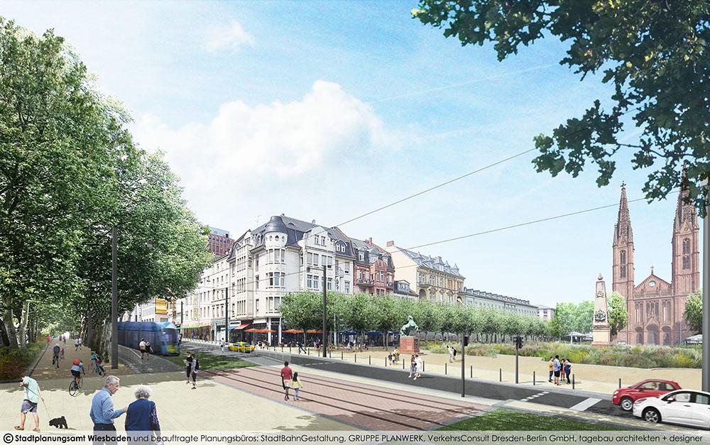 Visualisierung Rheinstraße Höhe Luisenplatz